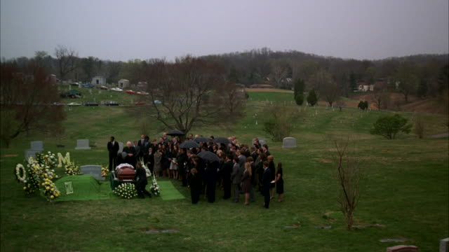 WS Shot of funeral / Unspecified