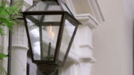 CU Shot of gas lamp / Charleston, South Carolina, United States