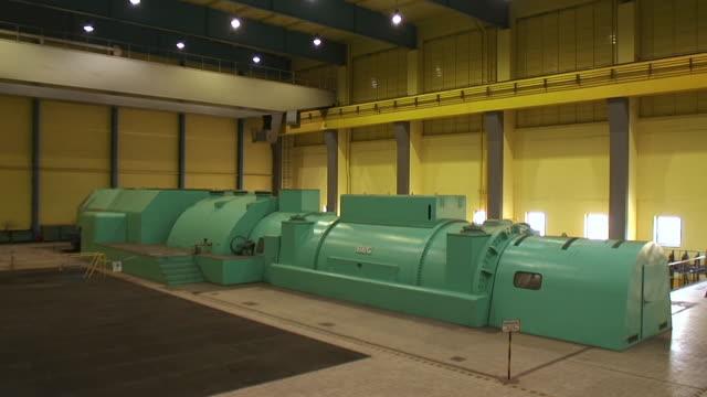 MS Shot of generator in coal power plant / Saarlouis, Saarland, Germany