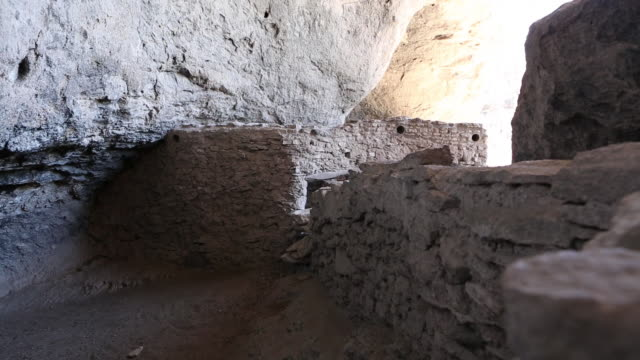 MS TU Shot of Gila Cliff Dwellings National Monument / Catron, New Mexico, United States