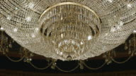 CU R/F Shot of glass chandelier / United Kingdom
