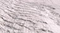 MS AERIAL Shot of gorner glacier and Monte Rosa Lyskamm with Grenz Glacier on right / Gorner Glacier, Valais, Switzerland