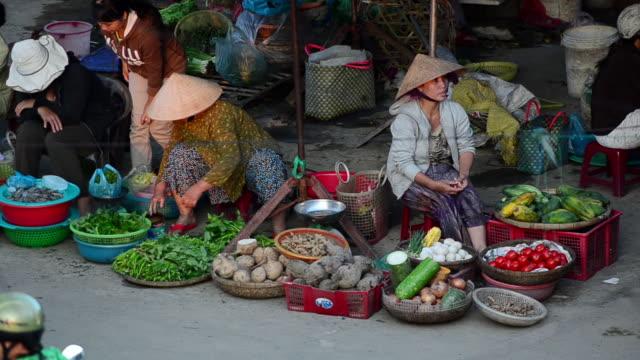 MS Shot of Hoi An market place / Hoi An, Quang Nam, Viet Nam