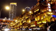 Shot of Hongyadong entertainment complex at night/ Chongqing,China