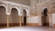 MS PAN Shot of Inside of Medersa / Marrakesh, Morocco