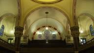 CU TU Shot of Interior of synagogue / London, United Kingdom