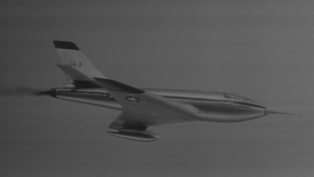 MS AERIAL POV Shot of jet flying