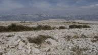 MS Shot of Karst landscape / Pag, Dalmatia, Croatia