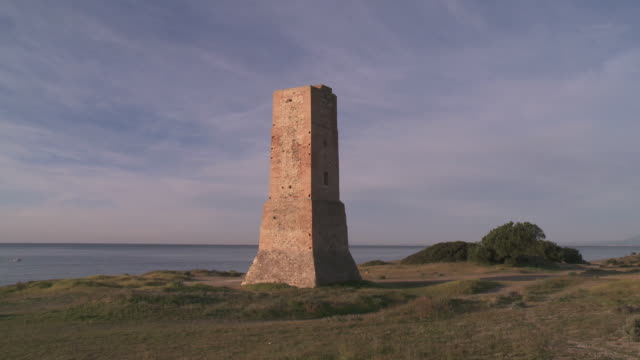 MS Shot of Ladrones tower / Marbella, Andalusia, Spain