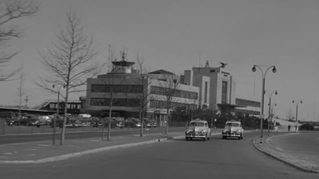 WS POV Shot of Laguardia Airport passing American Airlines building