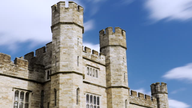 MS T/L Shot of Leeds castle  / London, United Kingdom