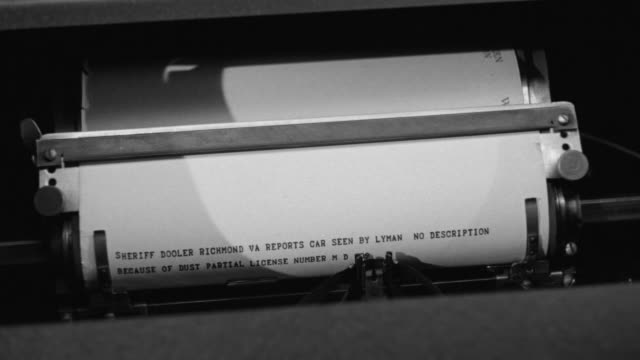CU Shot of letter printed on typewriter