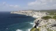 WS Shot of Limestone cliffs / Bonifacio, Corsica, France