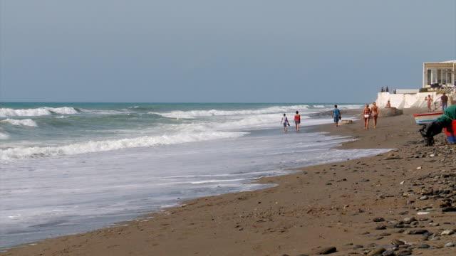 WS Shot of linda vista playa / san pedro alcantara, marbella, malaga