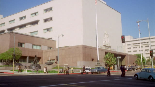 MS Shot of Los Angeles county courthouse / Unspecified
