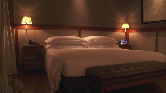 MS TU Shot of Luxury bedroom / Madrid, Andalusia, Spain