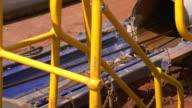 MS TD Shot of Machines spinning / Coolgardie and Kalgoorlie, Western Australia, Australia