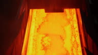 Shot of making process steel in iron foundry plant