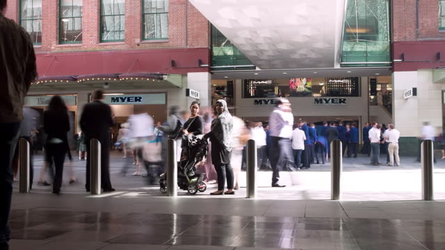 MS TU T/L Shot of Mall area / Sydney, Pyrmont New South Wales, Australia
