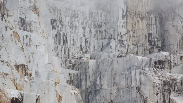 MS Shot of marble quarry / Colonnata, Tuscany, Italy