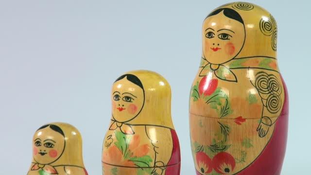 CU Shot of Matryoshka dolls, russian dolls / Saarburg, Rhineland Palatinate, Germany
