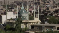 MS Shot of Mosque dome and minarets in down town / Sulaymaniyah, Kurdistan, Iraq