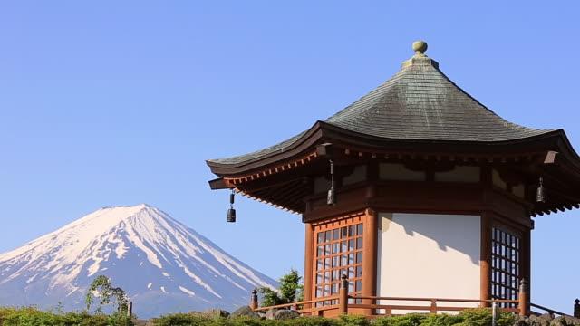 MS PAN Shot of Mount Fuji and Rokkaku-do / Fujiyoshida, Yamanashi, Japan