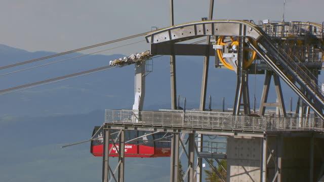 MS AERIAL Shot of Mountain at Jackson Hole Mountain Resort / Wyoming, United States
