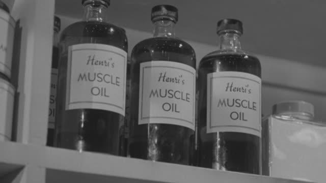 MS LA Shot of Muscle oil bottle in Hospital