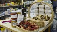 MS Shot of Mushrooms in Ambrogio market / Florence, Tuscany, Italy