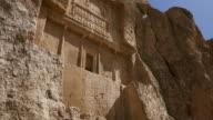 MS TU Shot of Naqsh e Rustam, Archaeological site in Iran / Shiraz, Fars Province, Iran