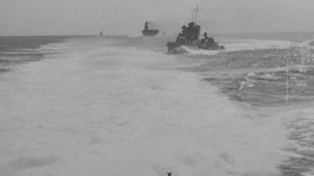 WS Shot of Navy montage