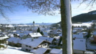 WS Shot of Nesselwang in winter / Nesselwang, Bavaria, Germany