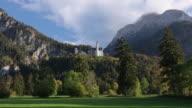 WS T/L Shot of Neuschwanstein Castle / Fussen, Bavaria, Germany