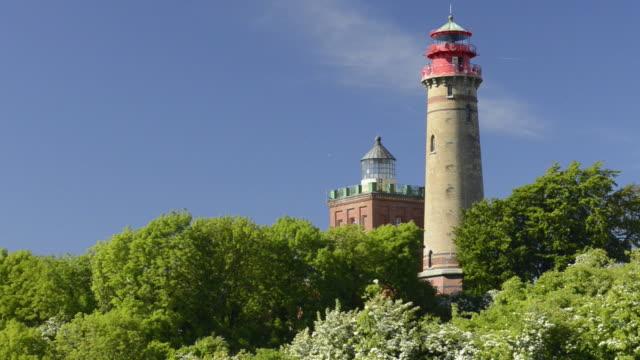 MS Shot of Old and new Lighthouse at Kap Arkona  / Kap Arkona, Rugen/Mecklenburg, Germany