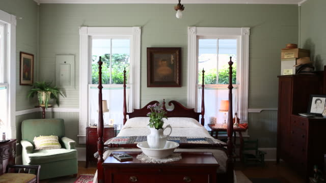 MS Shot of old country style bedroom / Norristown, Georgia, United States