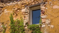 MS Shot of old house at Ocre Village of Roussillon / Roussillon, Provence, France