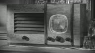 CU Shot of old radio sitting on shelf