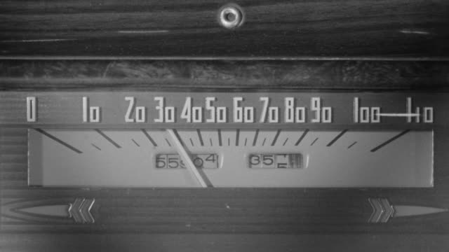 CU Shot of old speedometer