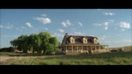 WS Shot of older wooden farmhouse / Unspecified