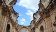 MS TU Shot of Oldest arch wall / Antigua, Guatemala