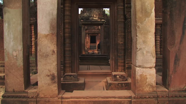 CU TD Shot of Oldest temple / Angkor, Cambodia