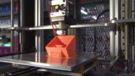 Shot of Operating 3D Printer