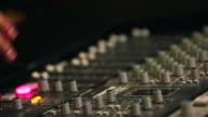 CU R/F Shot of operating sound equipment / Seoul, South Korea