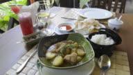MS Shot of Original Myanmar style chicken curry / Nyaungshwe, Inle Lake, Shan State, Myanmar