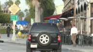 MS Shot of outside restaurant in Culver city / Los Angeles, California, United States