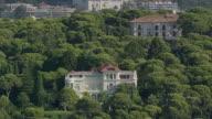 MS AERIAL Shot of Palace / Monaco, France