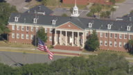 MS AERIAL Shot of Parris Island & Marine Corp Recruit Depot / South Carolina, United States