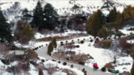 MS T/L Shot of People at Achimgoyo Arboretum on Christmas Holiday / Gapyeong, Kyonggi-Do Province, South Korea