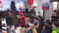 MS Shot of People browsing in department store / Seoul, Seoul, South Korea
